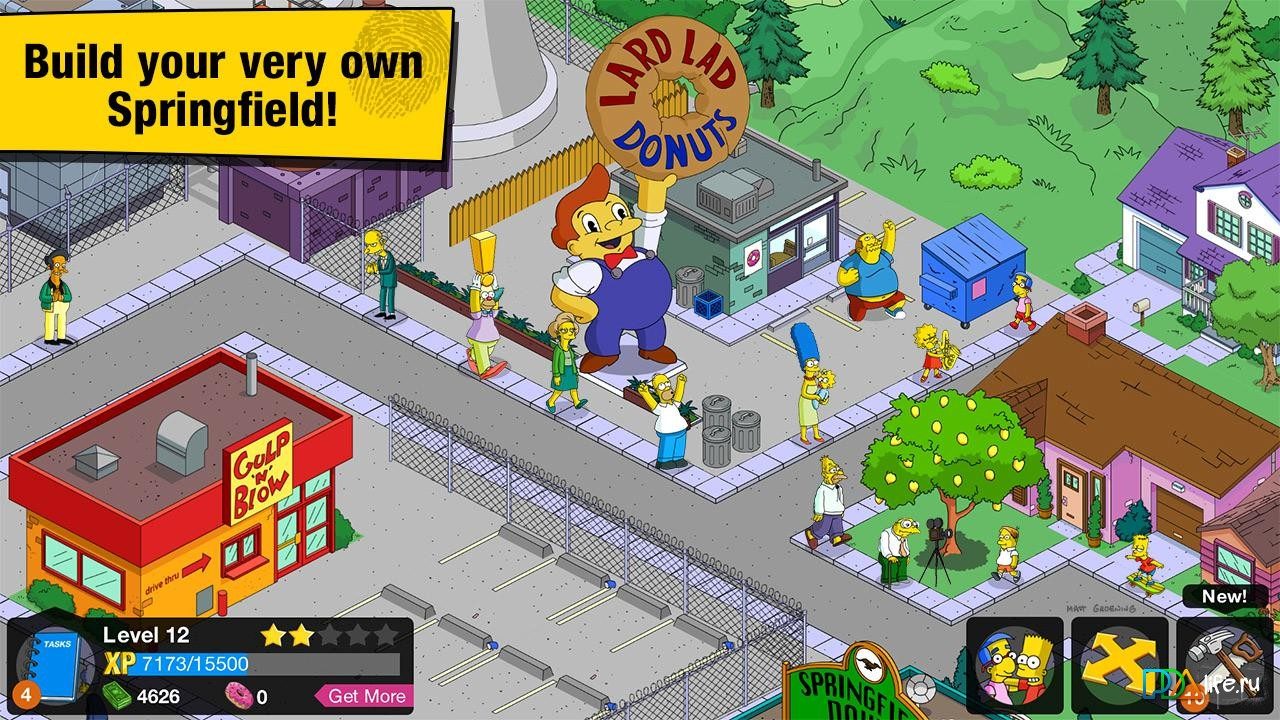The Simpsons Tapped Out скриншот